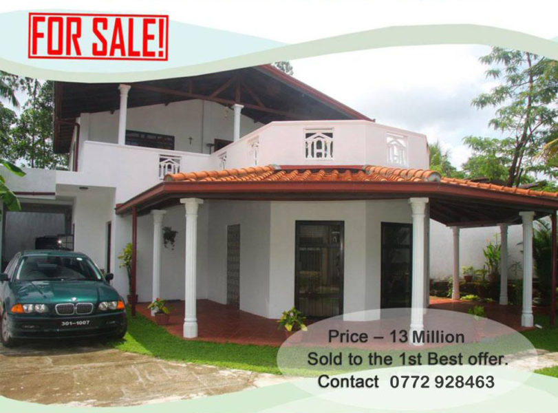 Madapatha Piliyandala Sri Lanka house for sale